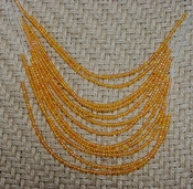 "Light orange 12 strand necklace 18"" with seed beads nk69"