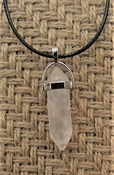 "Crystal pendant on 18"" inch leather cord necklace nk123"